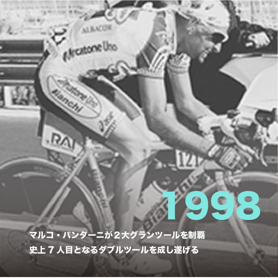 1998年、マルコ・パンターニが2大グランツールを制覇 史上7人目となるダブルツールを成し遂げる