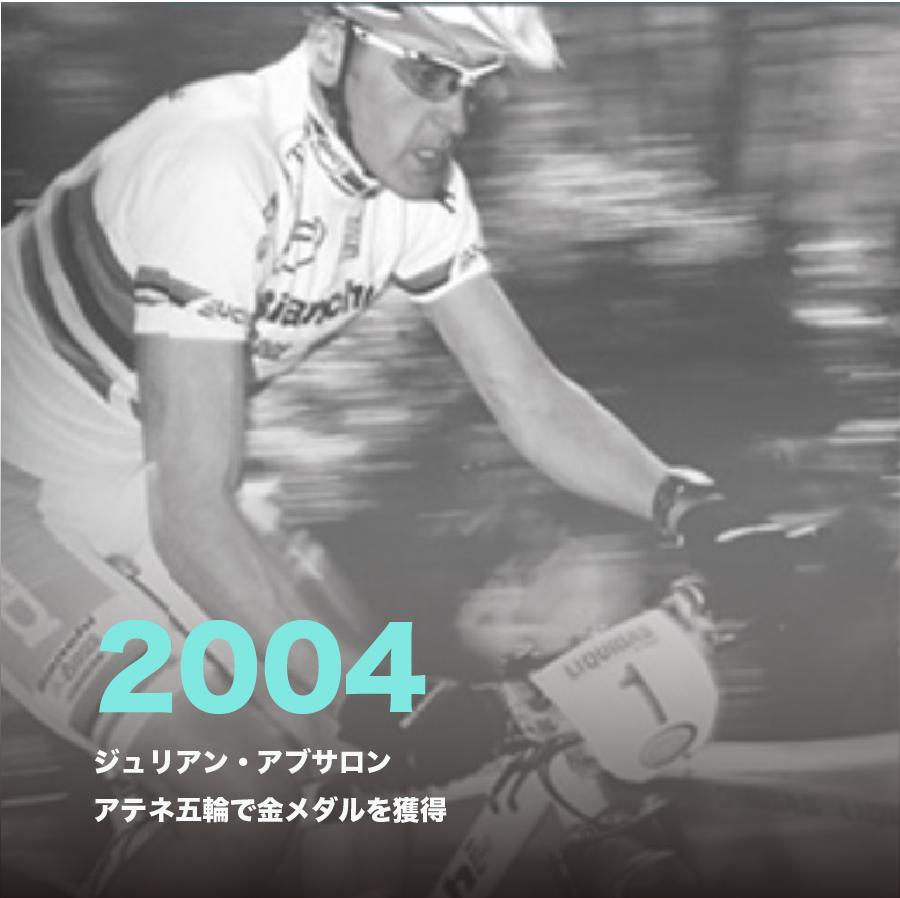 2004年、ジュリアン・アブサロン アテネ五輪で金メダルを獲得