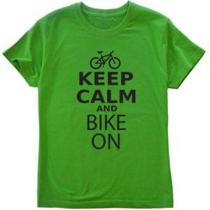 サイクルTシャツkeep-calm-and-bike-on