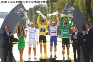 Tour de France 2018 表彰台