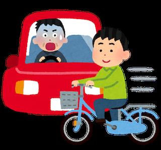 自転車事故の瞬間イラスト