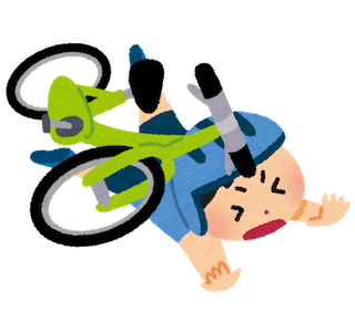 自転車で事故して怪我をする