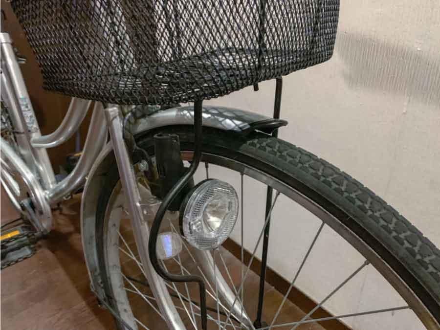 自転車の前方部分