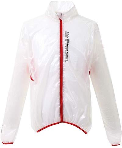 apt'(エーピーティー) サイクルウェア 冬用 ウインドブレーカー レインジャケットのホワイト