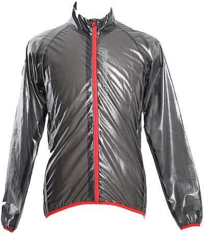 apt'(エーピーティー) サイクルウェア 冬用 ウインドブレーカー レインジャケットのグレー