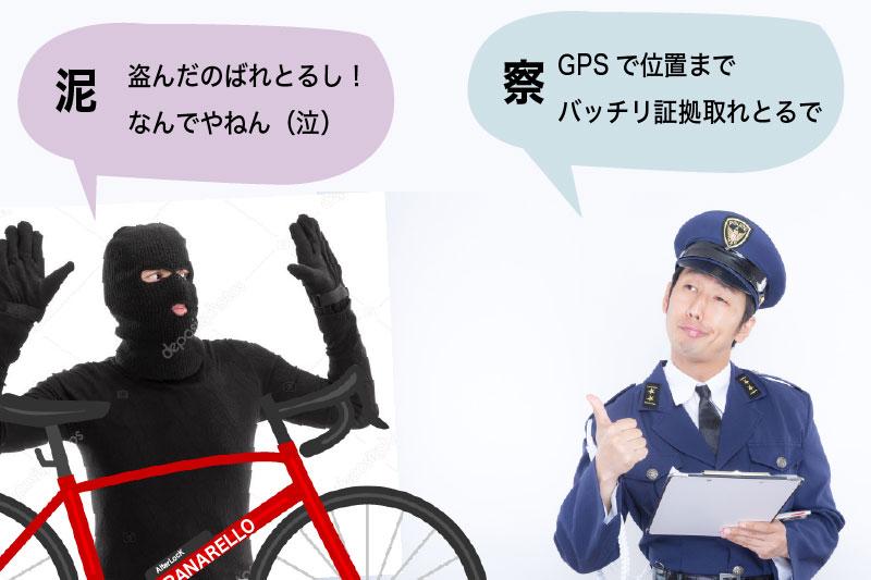 追い詰められる自転車盗難の犯人
