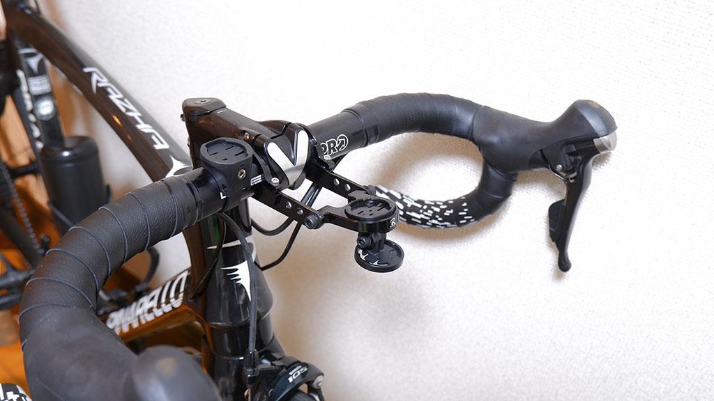 ハンドルバーマウント・及びGoPro用マウントをレックマウント下部に設置した画像
