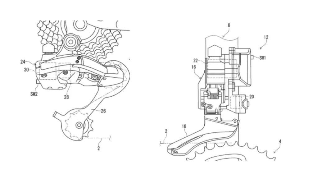 新型デュラエースのフロントディレイラー及びリアディレイラーに関する特許情報