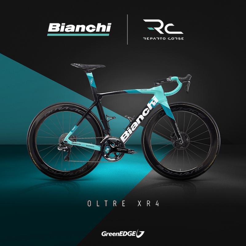 2021年のGreenEDGE Cyclingチームが使用するオルトレXR4ディスク